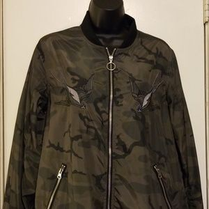 Rock & Republic Camo Print Bomber Jacket